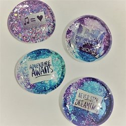 SET OF 4 Ultra Sparkle Edm Festival Quote Magnets pins