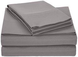 AmazonBasics Microfiber Sheet Set - Full Dark Grey