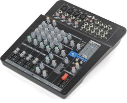 Samson MPX124FX Compact 12 Channel Analog Stereo Mixer With Effects And USB Black