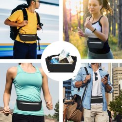Outdoor Waterproof Bum Fitness Running Waist Belt Pouch Bag