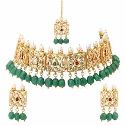b46c241553e0b Jwellmart Indian Cz Traditional Bridal Wedding Party Wear Choker Style  Kundan Stone Necklace Earrings Set For Women And Girls Gr | R1920.00 |  Fancy ...