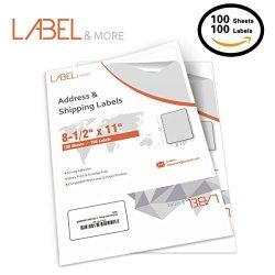 BK Full Sheet Labels For Laser And Inkjet Printer 8.5X11 Labels Full Sheet Label Paper Ups Usps Amazon Internet Postage Address Shipping 1 Up Labels