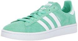 Adidas Originals Men's Campus Sneakers Green Glow white crystal White 10 M Us