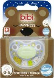 Bibi Silicone Glow-in-the-dark Soother Birth - 6 Months
