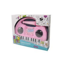 PORTABLE Keyboard & Microphone Pink