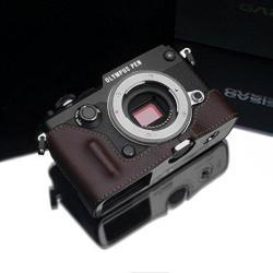 Gariz Hg-penfbr Geniune Leather Half Case For Olympus Pen-f Brown