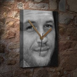 Tom Hardy - Canvas Clock A4 - Signed By The Artist JS002