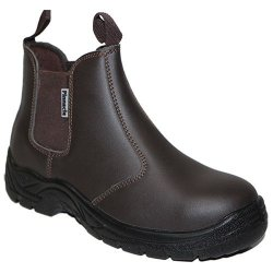 Pinnacle Welding & Safety Austra Chelsea Brown Safety Boots SIZE-6