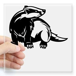 """CafePress Honey Badger Sticker Square Bumper Sticker Car Decal 3""""X3"""" Small Or 5""""X5"""" Large"""