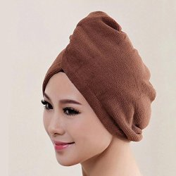 ARINLA Quick Drying Hair Towel Women Magic Microfiber Bath Towel Hair Dry Hat From For Showering Or Swimming Coffee