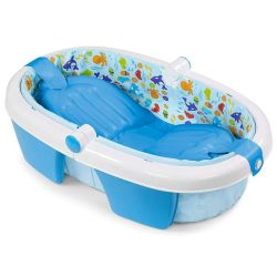 Totland Infant Fold Away Baby Bath - Blue