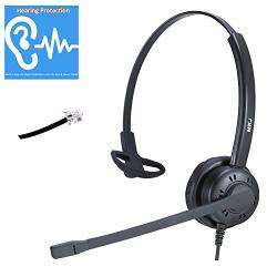 Meikajia Corded Desk Phone Headset RJ9 Headset With Microphone Noise  Cancelling For Panasonic Snom Grandstream Yealink Htek   R1755 00    Handheld