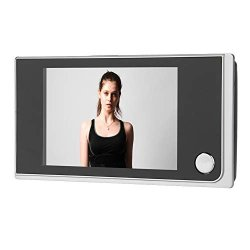 Fosa Digital Door Viewer 3.5 Inch Lcd Ov Color Screen Peephole Viewer Security Camera Cam Monitor 120 Wide Angle Video Photo Visual Monitoring Electronic