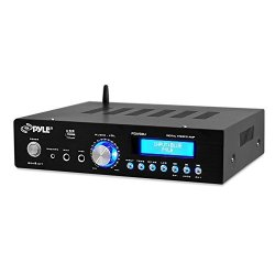 Watt Audio Stereo Receiver - Wireless Bluetooth Home Power Amplifier Home Entertainment System W aux In USB Port DVD Cd Player A