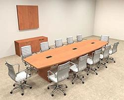 Modern Boat Shaped 14' Feet Conference Table OF-CON-C66