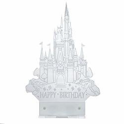 Excellent Acryled Designs Cinderella Castle Cake Topper Inspired With Led Funny Birthday Cards Online Inifofree Goldxyz