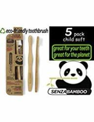 Child Size Senzabamboo Eco-friendly Toothbrush Soft Bristles 5