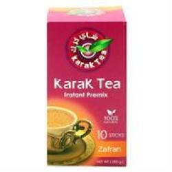 Karak Tea Instant Premix Zafran 10 Sticks Sweetened Retail Box No Warranty
