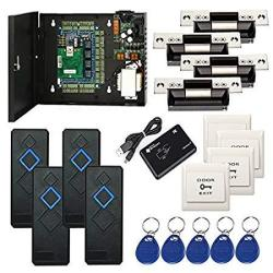 MENGQI-CONTROL 4 Doors Ansi Standard North American Strike Lock Ip Based Access Control Security Systems Kit With Rfid Reader Pu