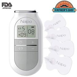 Naipo Electronic Pulse Massager Tens Unit Muscle Stimulator Tens Machine Device With 4 Electrotherapy Pads 5 Massage Modes 16 In