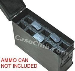 Case Club 10 Magazine Holder .30 Cal Ammo Can Foam Pre-cut Closed Cell Military Grade Foam