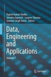 Data Engineering And Applications - Volume 1 Hardcover 1ST Ed. 2019