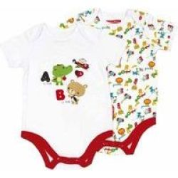 Fisher-Price Body Suit Printed Set Of 2