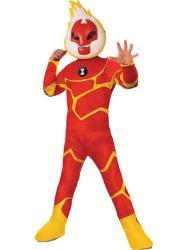 DLX Heatblast Costume W Header Car