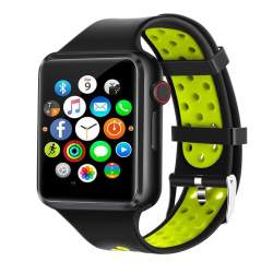 SMART WATCH C5 Bluetooth Men With Touch Screen Smartwatch Big Battery Support Tf Sim Card - Green