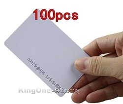 Proximity Em 4100 4102 Rfid Door Control Entry Access Thin Id Card White Packe Of 100 By Kingone