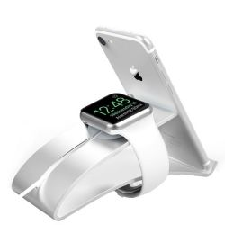 Killerdeals Apple Watch Charge Dock & Cellphone Holder - Silver