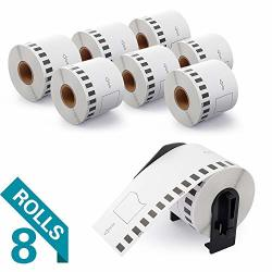 """Airmallcompatiblelabelsreplacementforbrother DK-2205 Continuous Labels Cut-to-length Labels Replacement LABELS-2-3 7"""" X 100' For Use In QL-500 700 710W 820 Nwb 8 Rolls 100' ROLL"""