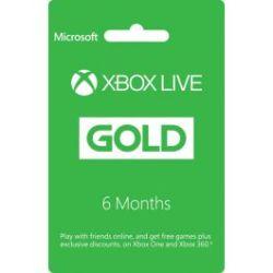 Microsoft Digital Code Xbox Live 6 Month Gold Card