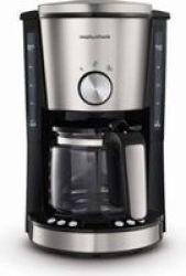 Morphy Richards Evoke 1000W Drip Filter Digital Coffee Maker 1.2LBRUSHED