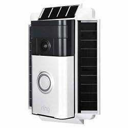 Wasserstein 0.5 Watt Solar Charger Mount Compatible With Ring Video Doorbell 1 Weatherproof White