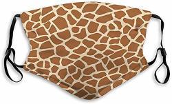 Langhu Mouth Shield Anti-dust Shield For Women And Men Giraffe Animal Print Seamless Pattern Fashion Shield