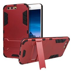 Huawei P10 Armor Case Huawei P10 Cover Case Rosa Schleife Huawei P10 Case Dual Layer Hybrid Design Heavy Duty Hybrid Rugged Toug