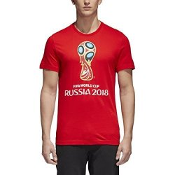 SLD Of The Adidas Group Adidas World Cup Soccer World Cup Emblem Men's Tee XS Red