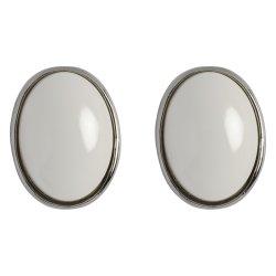 MISS CHIC - White Beaded Drop Earrings