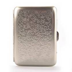 Chrome Cigarette Case - Embossed Venetian