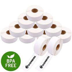 "SDYMO30252-4 12 Rolls Dymo 30252 Compatible Self-adhesive Standard Address White Paper Label 1-1 8"" X 3-1 2"" 28MM X 89MM 350LABELS ROLL For Dymo Labelwriter 450"