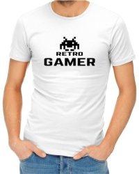 Retro Gamer Mens White T-Shirt Xxxx-large