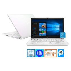 Hp 15.6 Wled Touch Screen Laptop Intel Core I5-8250U 8GB DDR4 1TB Hdd Office 365 Personal 1YR. Pearl White Certified Refurbished