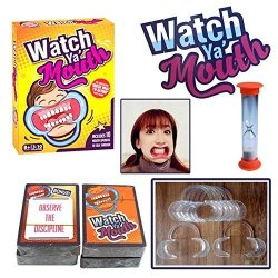 DSstyle Watch Ya Mouth Hot Funny Family Edition Hilarious Mouth Guard Mouth Opener For Fun Speaking Out Game Family Game Party G