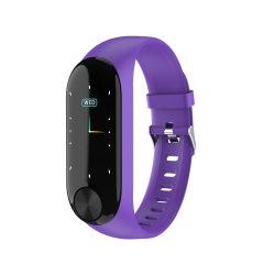 Color Screen Waterproof Fitness Smart Watch - Purple
