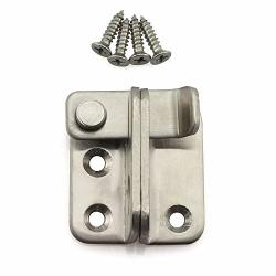 Tegg 2-PACK Padlock Door Hasp Latch Thickened Stainless Steel Safety Security Home Anti-theft Guard Bolts Action Hardware Small Size Flip Lock 45X40MM