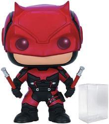Marvel: Netflix Daredevil - Daredevil Red Suit Funko Pop Vinyl Figure Includes Compatible Pop Box Protector Case