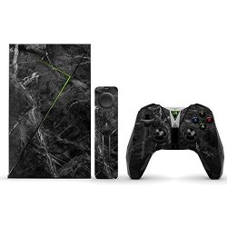 MightySkins Protective Vinyl Skin Decal For Nvidia Shield Tv Wrap Cover Sticker Skins Black Marble
