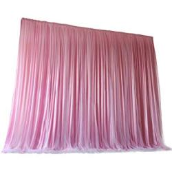 Tinton Life 6.6FT X 6.6FT Two Layers Tulle Backdrop Curtains For Party Wedding Baby Shower Birthday Decorations Photography Backdrop Christmas Backgro