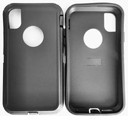 """Winfun House Replacement Tpe Silicone Outer Skin Compatible With Otterbox Defender Series Case For Apple Iphone Xr 6.1"""" Only -1PCS Black Skin"""